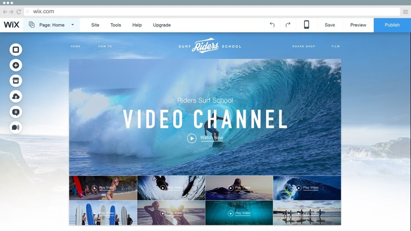 Wix Video gives Wix hosted and third party videos a home on a user's own video channel.