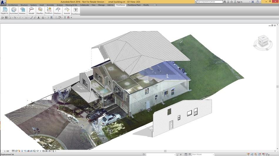 Extraia varreduras para BIM: crie modelos a partir de dados de varredura com o PointSense para Revit (PRNewsfoto/FARO)