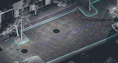 Delineie traços da topografia de estacionamentos com as ferramentas intuitivas do SmartSnap no PointSense para AutoCAD (PRNewsfoto/FARO)
