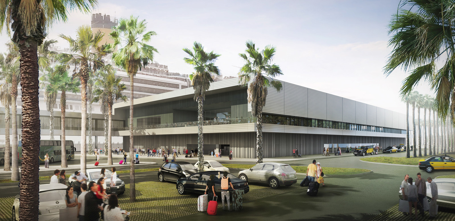Αποτέλεσμα εικόνας για Carnival Corporation unveils artistic renderings for second cruise terminal at Port of Barcelona