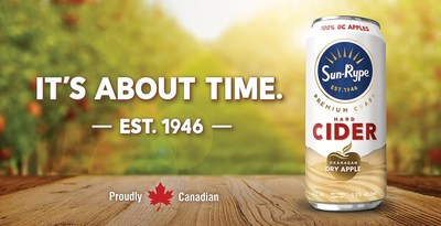 It's About Time: SunRype Launches New Premium Craft Cider (CNW Group/Sun-Rype Products Ltd.)