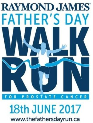 Prostate Cancer Foundation BC Announces Raymond James As Lead Sponsor for 2017 Father's Day Walk/Run (CNW Group/Prostate Cancer Foundation BC)