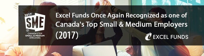 Excel Funds Once Again Recognized as one of Canada's Top Small & Medium Employers (CNW Group/Excel Funds Management Inc.)