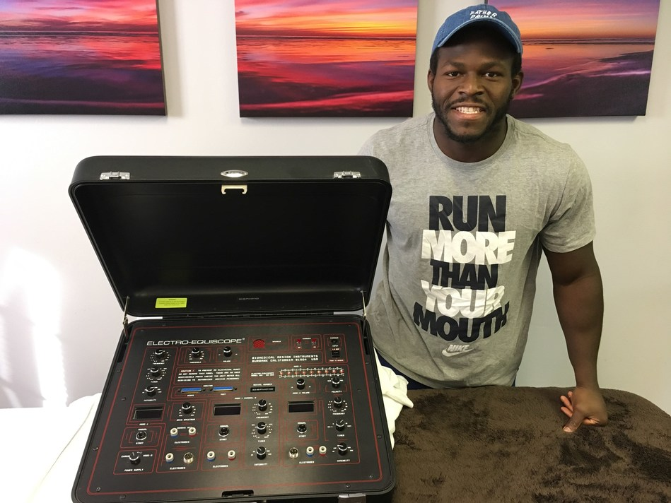Branden purchased his own Equiscope to insure a speedy recovery and to maximize his peak performance for the 2017 NFL season.