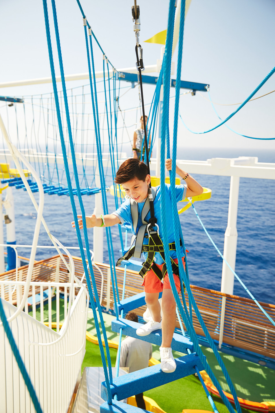 For parents and their children, there is plenty to do on a cruise vacation. Kids can partake in supervised, camp-like activity programs, join their parents on adventures on shore and even take to the skies at sea with the ropes course.&   Photo courtesy of Carnival Cruise Line