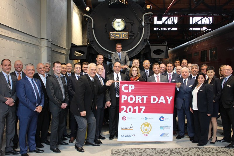 Attendees of CP's 2017 Port Day, held at the company's head office in Calgary, work collaboratively with CP to grow Canada's gateways of Montreal and Vancouver. (CNW Group/Canadian Pacific)