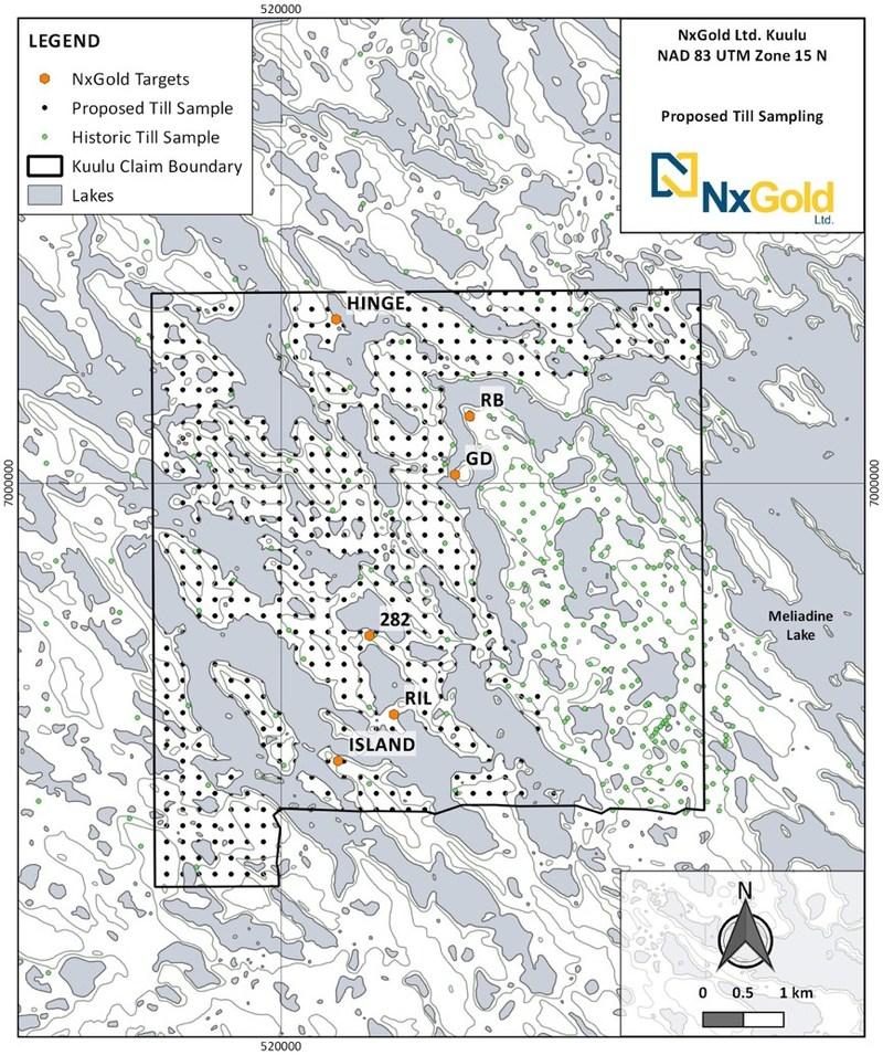 Figure 2: Till Sampling Location Map (CNW Group/NxGold Ltd.)
