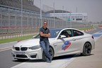 Mr. Vikram Pawah, President, BMW Group India with BMW M5 (PRNewsfoto/BMW India Private Limited)