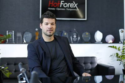 Michael Ballack during his visit at the company's headquarters (Credit: HF Markets Ltd) (PRNewsfoto/HF Markets Limited)