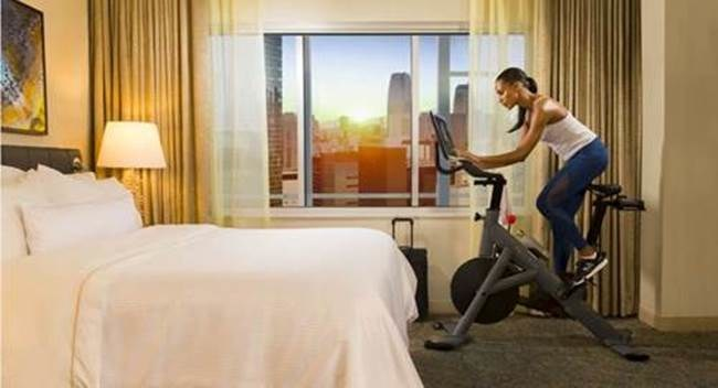 Westin Hotels & Resorts announces first-of-its-kind collaboration with Peloton, empowering travelers to rise & ride in the privacy of select WestinWORKOUT® guest rooms throughout the United States.