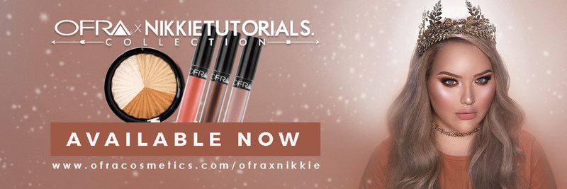 OFRA x NIKKIETUTORIALS Collection - By Popular Demand Now available as individuals. Get your OFRA Everglow Highligher and Liquid Lipstick in Coven, Spell or Nude Potion based on YOUR choice!