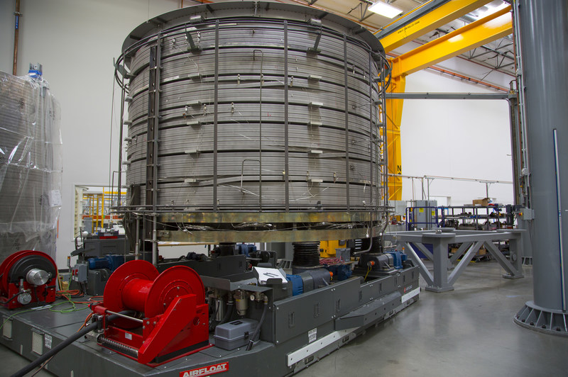 The first module of the ITER Central Solenoid being prepared for heat treatment in February 2017 at General Atomics' facility in Poway, Calif. Courtesy: General Atomics
