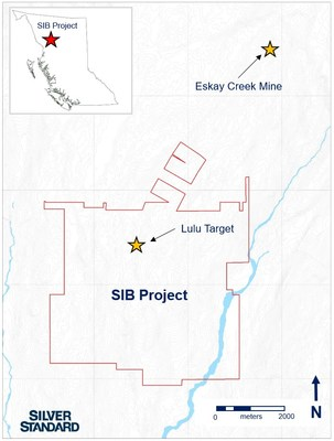 Figure 1: SIB Project claim boundary and Lulu Target, located approximately 4 kilometers south-southwest of Eskay Creek Mine, British Columbia, Canada. (CNW Group/Silver Standard Resources Inc.)