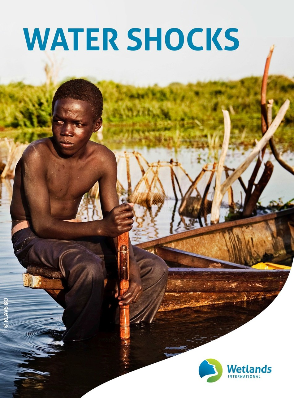 A boy in a boat in what is left of Lake Chad. (c)Klavs Bo (PRNewsfoto/Wetlands International)