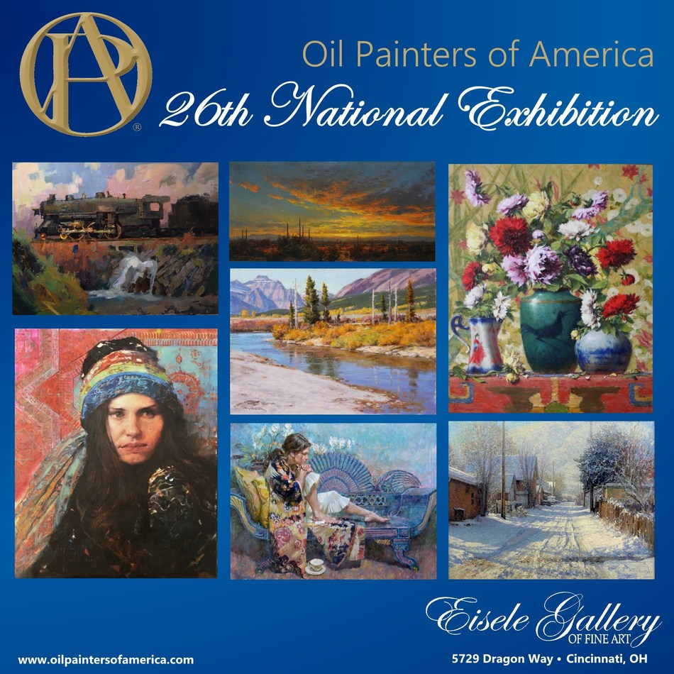 Over 240 paintings by today's top artists will be on display at Eisele Gallery of Fine Art in Cincinnati from May 12 - June 24, 2017 as part of Oil Painters of America's 26th National Exhibition & Convention.