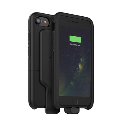 For connected consumers that don't need the extended battery life, the charge force adapter, $49.95, brings all the conveniences of wireless charging to iPhone with virtually unnoticeable size and weight.