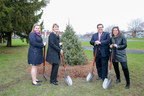 From left to right: Mrs Christine Black, Montreal North Borough Mayor, Mrs Sylvie Demers, Chair, Quebec Market, TD Bank Group, Mr. Denis Coderre, Mayor of Montreal, and Mrs Malin Anagrius, Executive Director at Soverdi. (CNW Group/TD Bank Group)