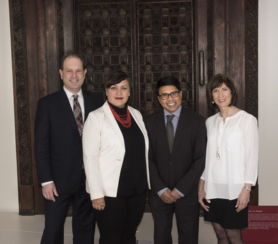 From left: Josh Basseches, Director & CEO, Royal Ontario Museum; Dr. Deepali Dewan, Dan Mishra Curator of South Asian Art & Culture, Royal Ontario Museum; Dan Mishra, CEO, CSDC Systems; and Susan Horvath, President & CEO, ROM Governors (CNW Group/Royal Ontario Museum)