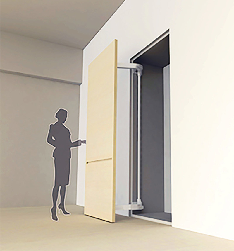 Sugastsune's award winning LIN-X1000 Lateral Door Opening System.