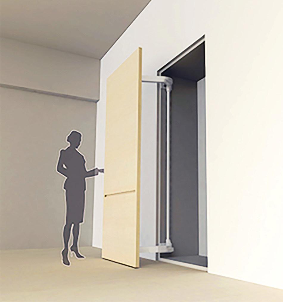 Sugastsune's award winning LIN-X1000 Lateral Door Opening System.