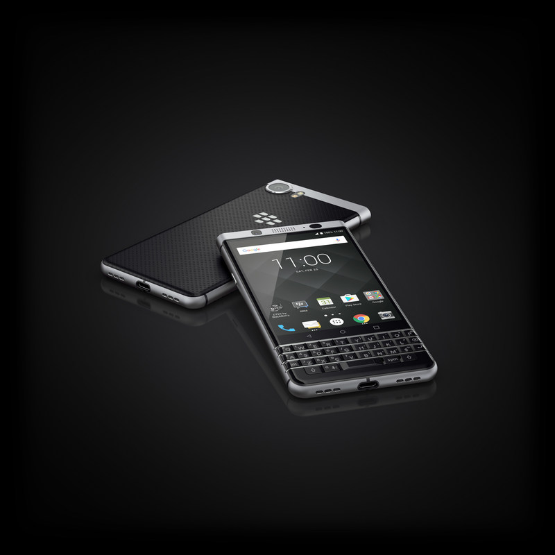 The BlackBerry KEYone will officially be on-sale in Canada in May at Bell, Bell MTS, Rogers, SaskTel and TELUS Business starting at $199 CAD on a two year term. (CNW Group/TCL Communication)
