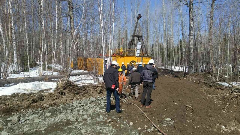 The drill at work! (CNW Group/Monarques Gold Corporation)