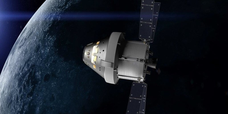 Concept of the Orion spacecraft on NASA's first integrated flight with the Space Launch System. Orion will travel farther than any spacecraft built for humans. Credits: NASA (PRNewsfoto/NASA)