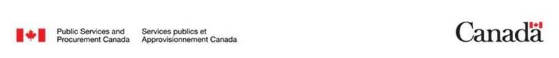 Logo: Public Services and Procurement Canada (CNW Group/Public Works & Government Services Canada)