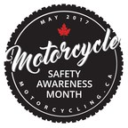 Motorcycle Safety Awareness Month Logo May 2017 (CNW Group/Motorcyclists Confederation of Canada (MCC))