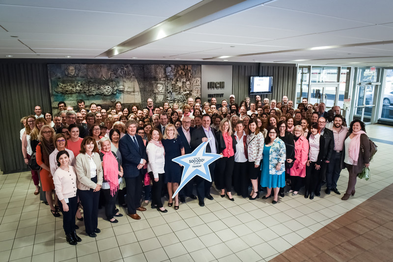 Transat announces a commitment of $ 500,000 to the Montreal Clinical Research Institute (IRCM) for breast cancer research. (CNW Group/Transat A.T. Inc.)
