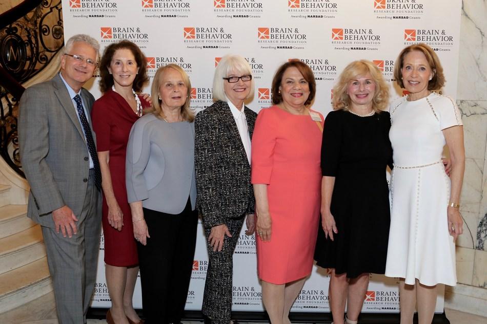 Dr. Jeffrey Borenstein, Barbara Streicker, Dr. Myrna Weissman, Ellen Levine, Carole Mallement, Dr. Dolores Malaspina and Suzanne Golden