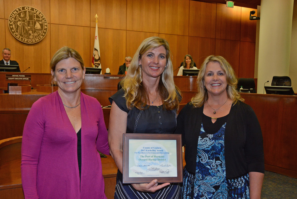 From left to right: Port Director & CEO Kristin Decas, District 3 County of Ventura Supervisor Kelly Long, and Oxnard Harbor District Commissioner Mary Anne Rooney.
