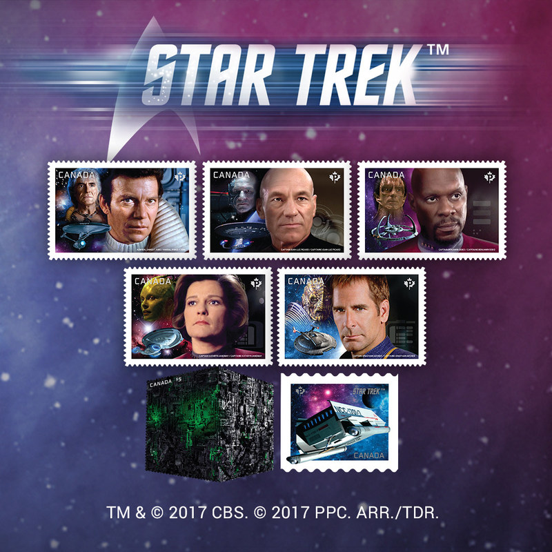 2017 Star Trek stamps (CNW Group/Canada Post)