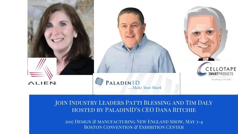 Dana Ritchie, PaladinID CEO invites show attendees to meet and greet Industry Leaders Tim Daly (Cellotape Smart Products) and Patti Blessing (Alien Technology) for real-time RFID #track and #trace demonstrations in Booth #1033