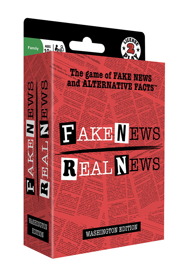 Fake News / Real News: The game of Fake News and Alternative FactsTM Debuts To Commemorate Administration's 100th Day