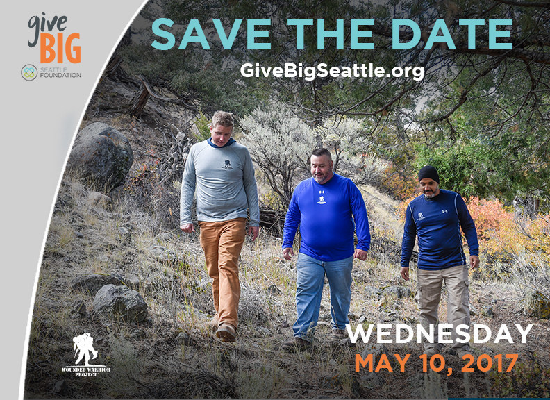 Wounded Warrior Project will once again be participating in Give Big Day in Seattle, on May 10.