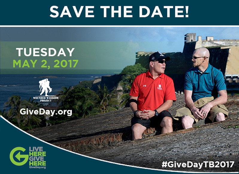 """Wounded Warrior Project® (WWP) will be among the nonprofits registered to participate in """"Give Day"""" - a 24-hour online giving challenge, which is hosted by the Community Foundation of Tampa Bay."""