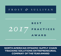 Frost & Sullivan recognizes FourKites with the 2017 North American Entrepreneurial Company of the Year Award.