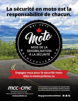 Mois de la sensibilisation à la sécurité poster (Primaire) (Groupe CNW/Motorcyclists Confederation of Canada (MCC))