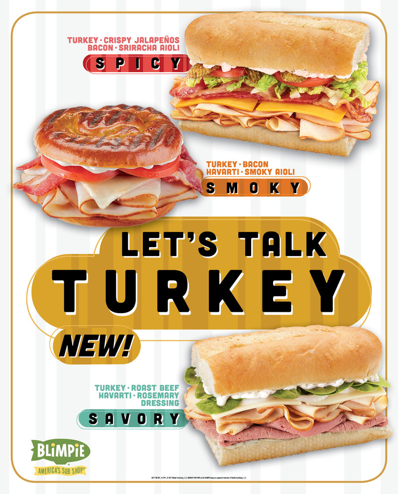 Three new turkey subs available for a limited time at Blimpie.