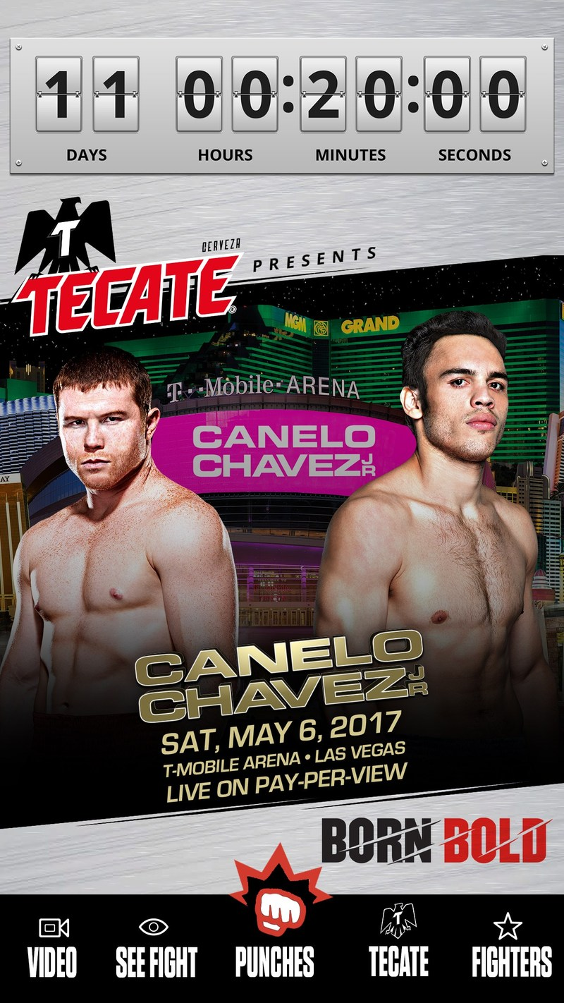 Get closer to the Canelo vs. Chavez Jr fight through the Tecate Bold Punch app.