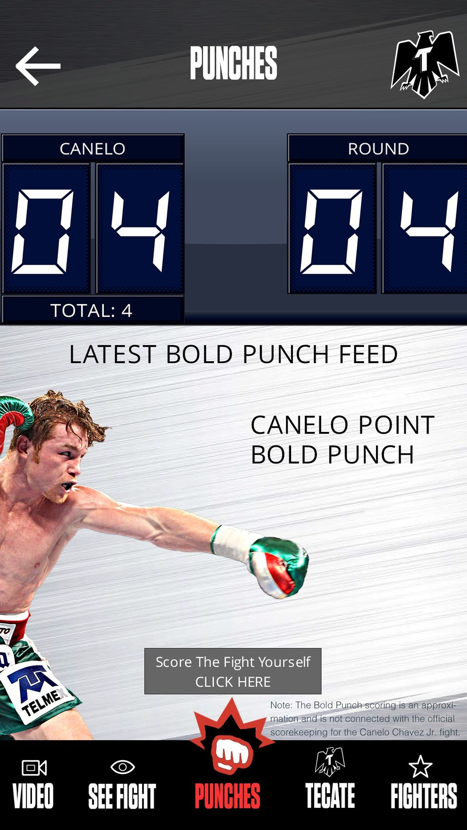 Feel your phone vibrate every time Canelo lands a power punch!