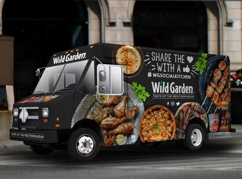 """Wild Garden® Foods is hitting the road and sharing its love of Mediterranean food by giving back to the community with free meals. Facebook """"likes"""" will power the Social Kitchen Tour. For every new """"like"""" on the company's page, a free lunch or dinner will be served on the four-day food truck tour, May 15-18, throughout the city of Chicago."""