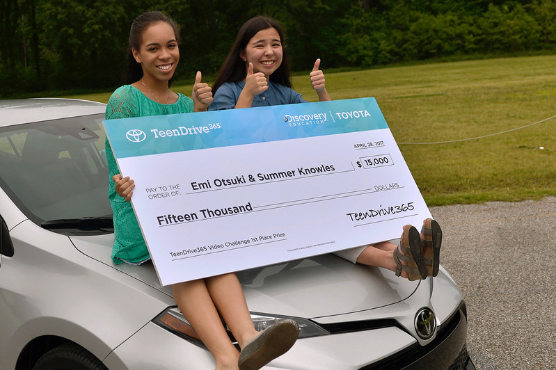 "Memphis-area teens Emi Otsuki and Summer Knowles won the Toyota TeenDrive365 grand prize for their ""Stay Alive While You Drive"" video."