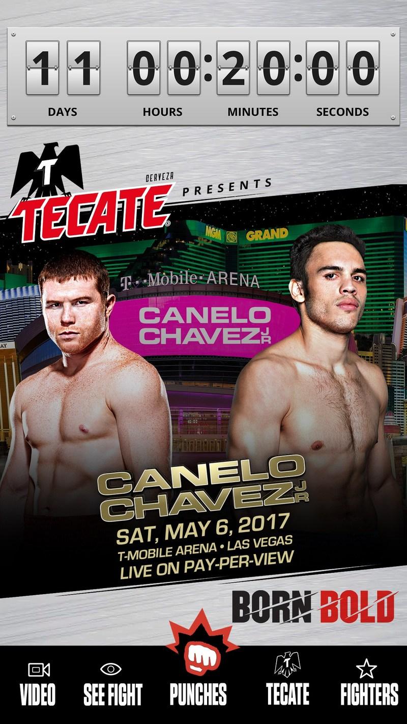 Acércate a la pelea de Canelo v. Chávez Jr. a través de la aplicación Tecate Bold Punch.