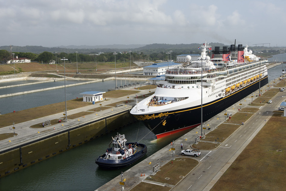 Disney Wonder Becomes First Passenger Vessel To Transit New Panama Canal Locks (Disney Cruise Line Handout Image)