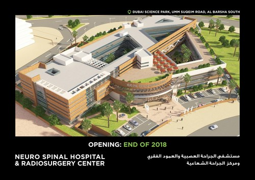 The new Neuro Spinal Hospital and Radiosurgery Center that will open in 2018 in Dubai. (PRNewsfoto/InterSystems)