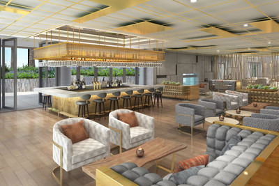 The redesigned bar and lounge continues with the natural theme and creates a new space for guests to gather, mingle and indulge.