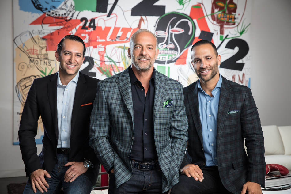 From left to right, the photo depicts Sam Bakhshandehpour, Managing Director; Lorenzo Fertitta, Chairman and Co-Founder; Nakisa Bidarian, CEO and Co-Founder. Credit: Clint Jenkins