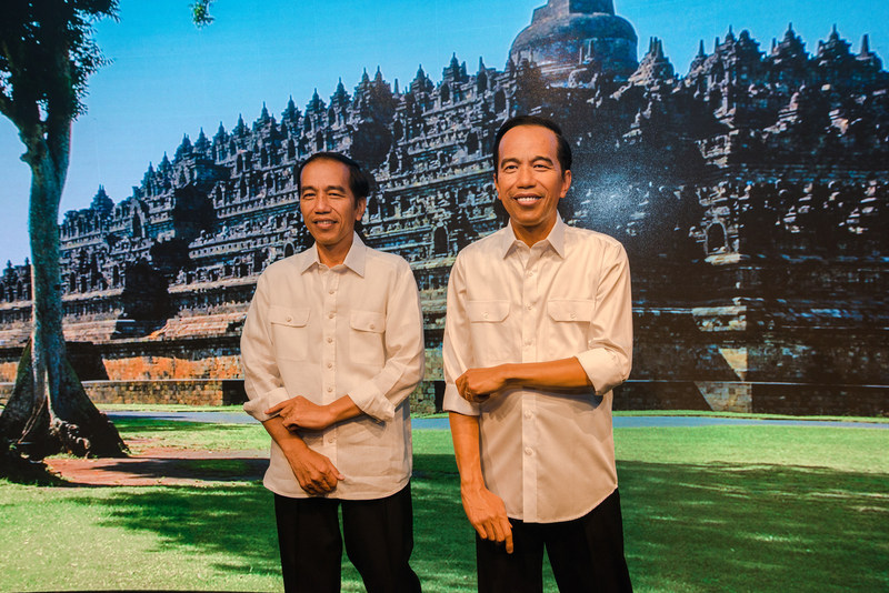 President Joko Widodo surprised and said his figure is 99.9% the same.